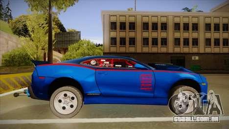 Chevrolet Camaro ZL1 Elite para GTA San Andreas traseira esquerda vista