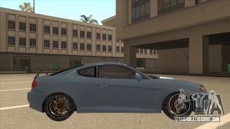 Hyundai Coupe V6 Soft Tuned v1 para GTA San Andreas traseira esquerda vista