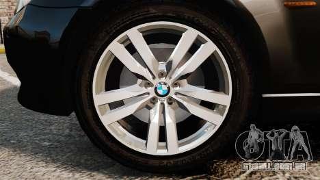 BMW M5 E60 Metropolitan Police Unmarked [ELS] para GTA 4 vista de volta