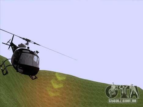 Police Maverick GTA 5 para GTA San Andreas traseira esquerda vista
