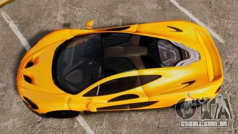 McLaren P1 2013 para GTA 4 vista direita