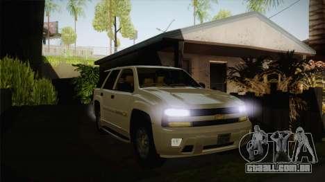 Chevrolet Trail Blazer para GTA San Andreas vista traseira