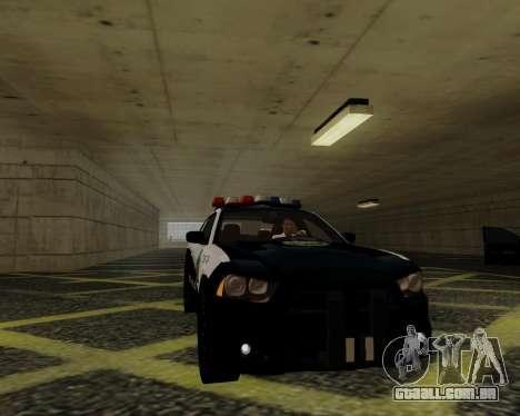 Dodge Charger 2012 Police IVF para GTA San Andreas vista traseira