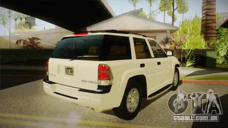 Chevrolet Trail Blazer para GTA San Andreas vista direita