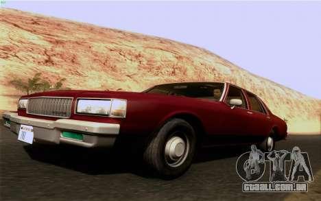 Chevrolet Caprice 1987 para GTA San Andreas esquerda vista