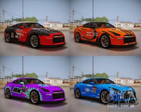 Nissan GT-R Egoist v2 para GTA San Andreas vista traseira