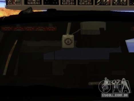Ford Explorer 2010 Police Interceptor para GTA San Andreas vista traseira