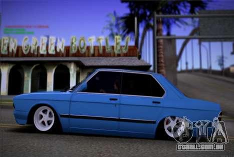 BMW 535I E28 para GTA San Andreas esquerda vista