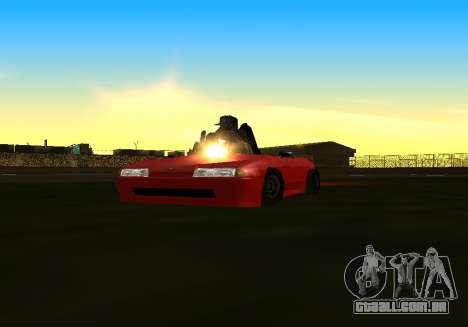 Baby Elegy v1 by Gh0ST para GTA San Andreas traseira esquerda vista