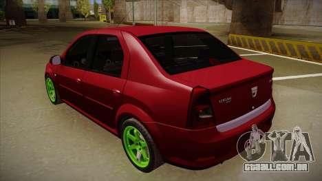 Dacia Logan Hellaflush para GTA San Andreas vista direita