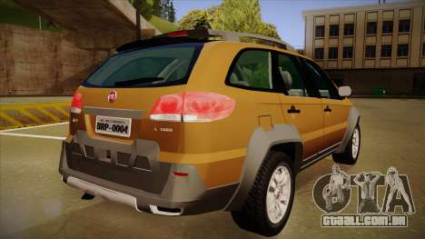 FIAT Palio Weekend Adventure Locker 2010 para GTA San Andreas vista traseira