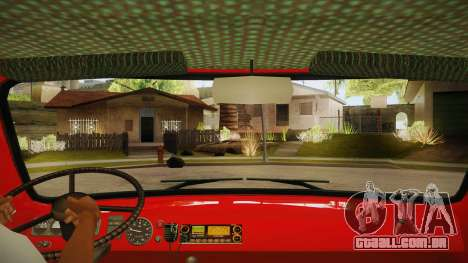 Sede UAZ 452 fogo para GTA San Andreas vista interior