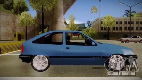 Chevrolet Kadett para GTA San Andreas traseira esquerda vista
