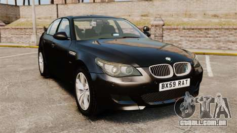 BMW M5 E60 Metropolitan Police Unmarked [ELS] para GTA 4
