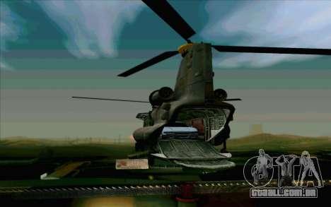 MH-47 para vista lateral GTA San Andreas