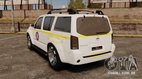 Nissan Pathfinder HGSS [ELS] para GTA 4 traseira esquerda vista