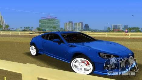 Subaru BRZ Type 5 para GTA Vice City vista traseira esquerda