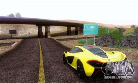 McLaren P1 EPM para GTA San Andreas vista interior