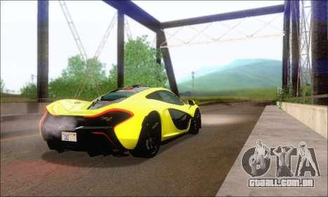 McLaren P1 EPM para GTA San Andreas vista direita