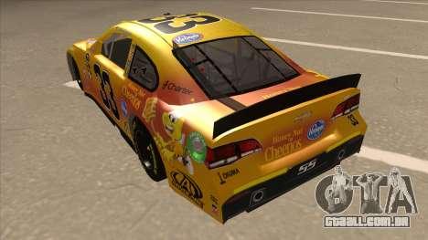 Chevrolet SS NASCAR No. 33 Cheerios para GTA San Andreas vista traseira