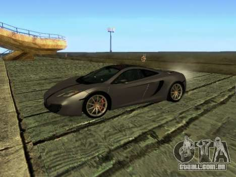 McLaren MP4-12C WheelsAndMore para GTA San Andreas vista interior