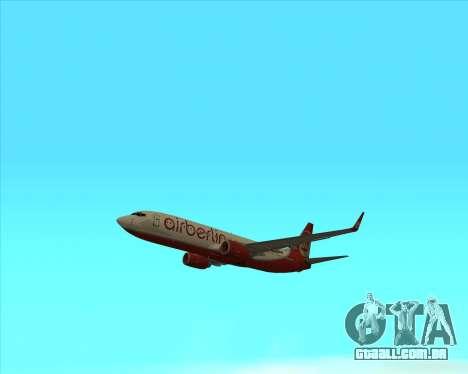 Boeing 737-800 para GTA San Andreas vista direita
