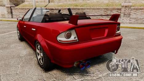 Versão conversível do Premier tuning para GTA 4 traseira esquerda vista