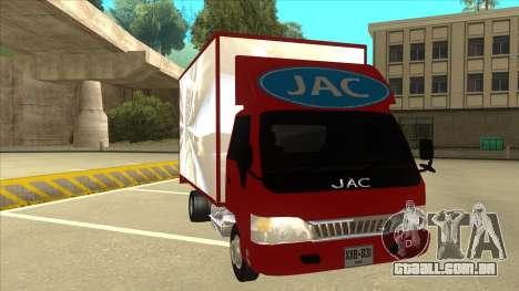 JAC 1040 para GTA San Andreas esquerda vista