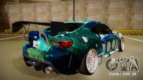Subaru BRZ para GTA San Andreas vista direita