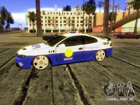 Pontiac GTO Pursit Edition para GTA San Andreas traseira esquerda vista
