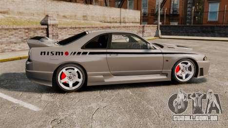Nissan Skyline R33 NISMO 400R para GTA 4 esquerda vista