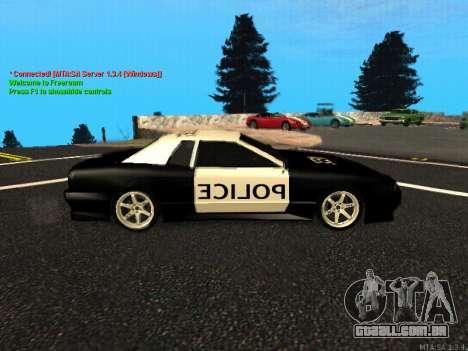 Elegy Police para GTA San Andreas traseira esquerda vista
