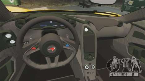 McLaren P1 2013 para GTA 4 vista interior