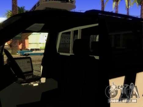 Ford Explorer 2010 Police Interceptor para vista lateral GTA San Andreas