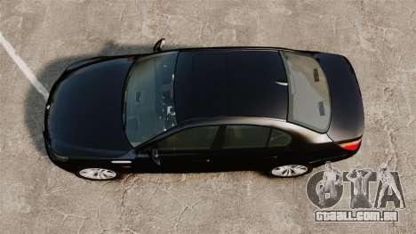 BMW M5 E60 Metropolitan Police Unmarked [ELS] para GTA 4 vista direita