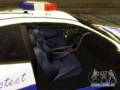 Pontiac GTO Pursit Edition para GTA San Andreas vista traseira