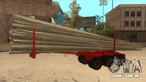 2-nd-madeira transportadora para Hayes H188 para GTA San Andreas traseira esquerda vista