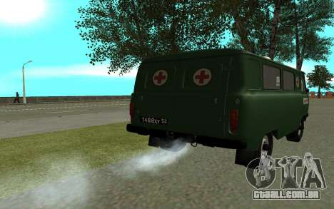 Ambulância UAZ-452 para GTA San Andreas traseira esquerda vista