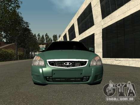 VAZ-2172 para GTA San Andreas vista traseira