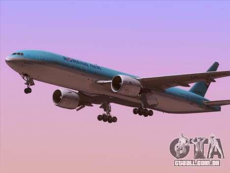 Boeing 777-2B5ER Korean Air para GTA San Andreas vista direita