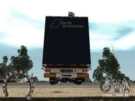 Trailer de Kamaz 54115 para GTA San Andreas vista traseira