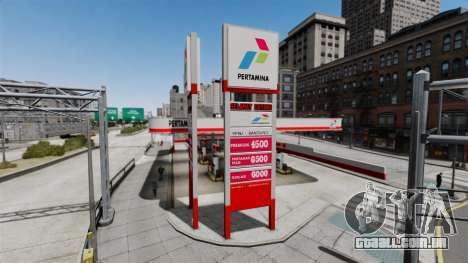 Pertamina posto de gasolina para GTA 4