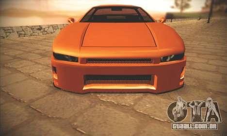 Infernus One para GTA San Andreas traseira esquerda vista