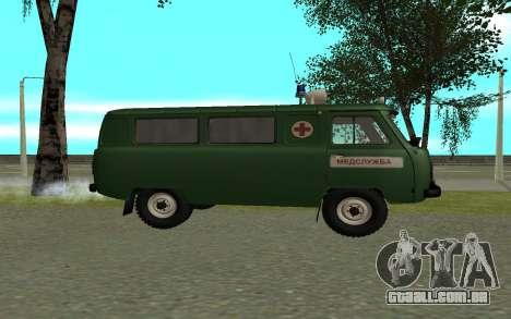 Ambulância UAZ-452 para GTA San Andreas esquerda vista