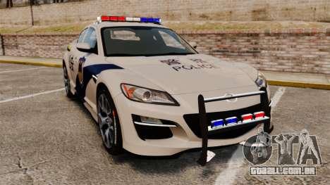 Mazda RX-8 R3 2011 Police para GTA 4