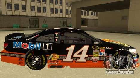 Chevrolet SS NASCAR No. 14 Mobil 1 Bass Pro Shop para GTA San Andreas traseira esquerda vista