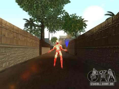 Impacto do homem de ferro na terra para GTA San Andreas