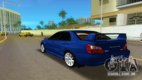 Subaru Impreza WRX STi para GTA Vice City deixou vista