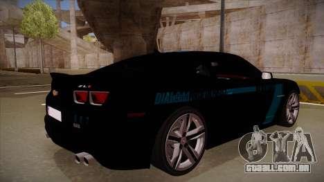Chevrolet Camaro ZL1 2012 RCPD V1.0 para GTA San Andreas vista direita