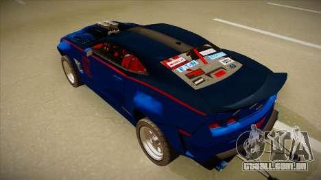 Chevrolet Camaro ZL1 Elite para GTA San Andreas vista traseira